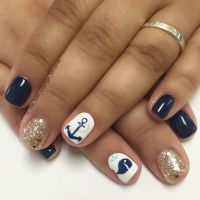 Anchor whale cruise nail art design | Nail Art | Pinterest ...