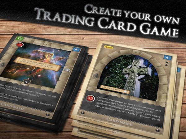 trading card game template  free download  printable