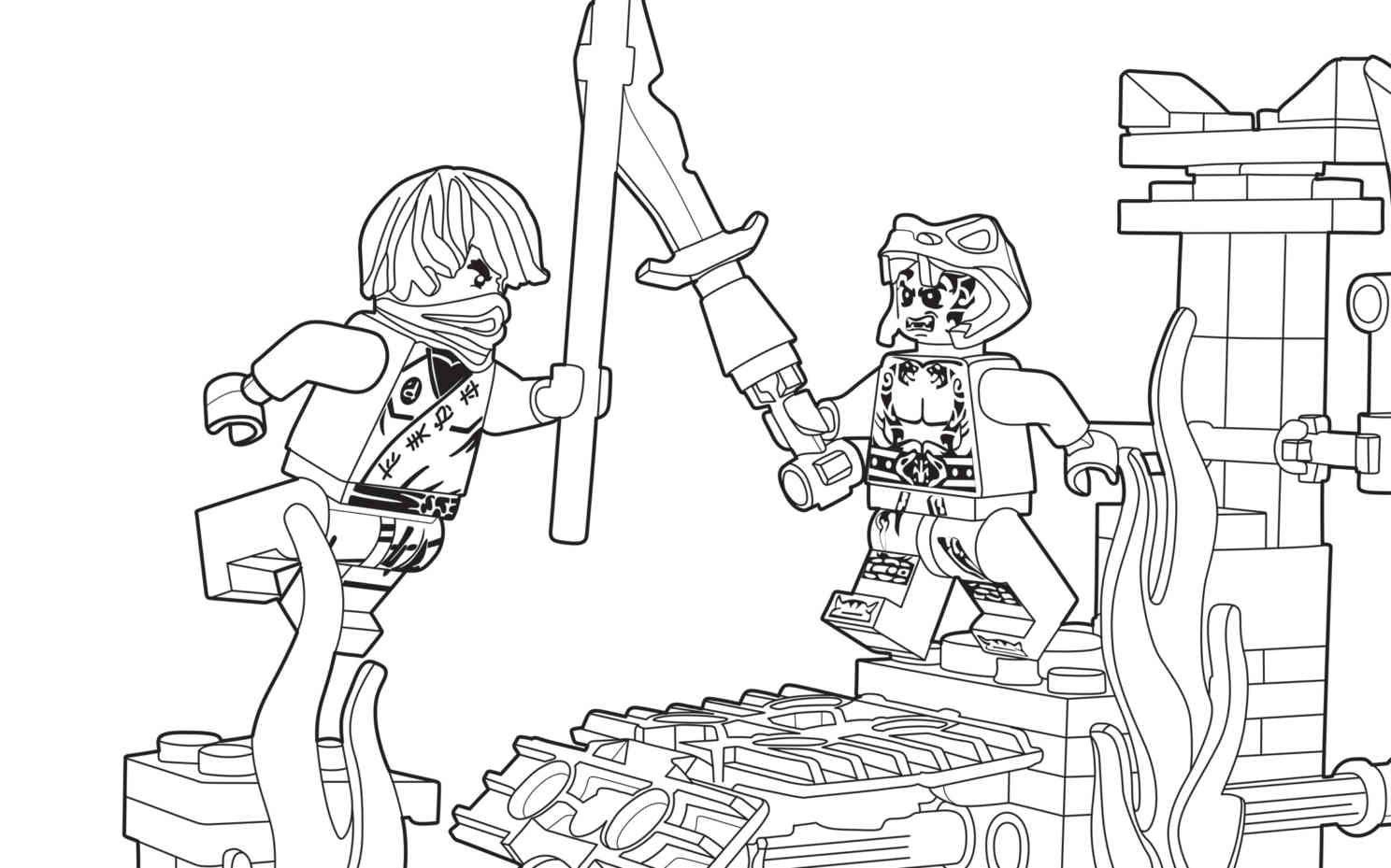 Lego Ninjago Coloring Sheet