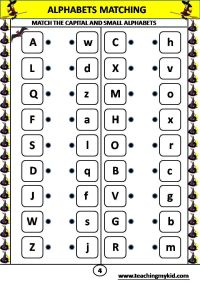 Letter Worksheets  Alphabet Matching Worksheet is a great ...