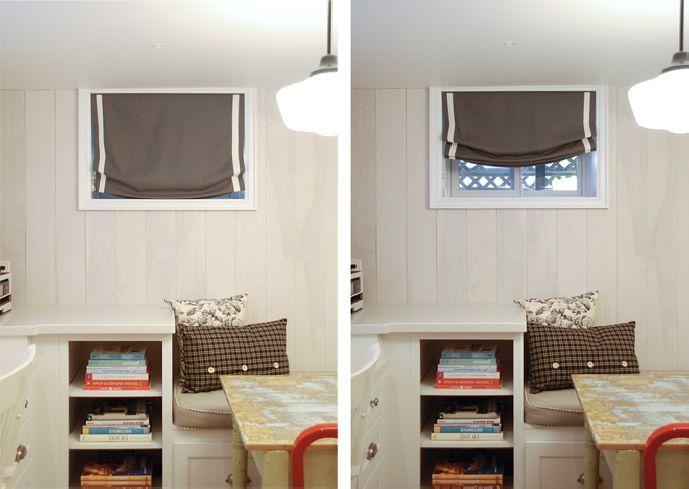 small basement window treatments google search