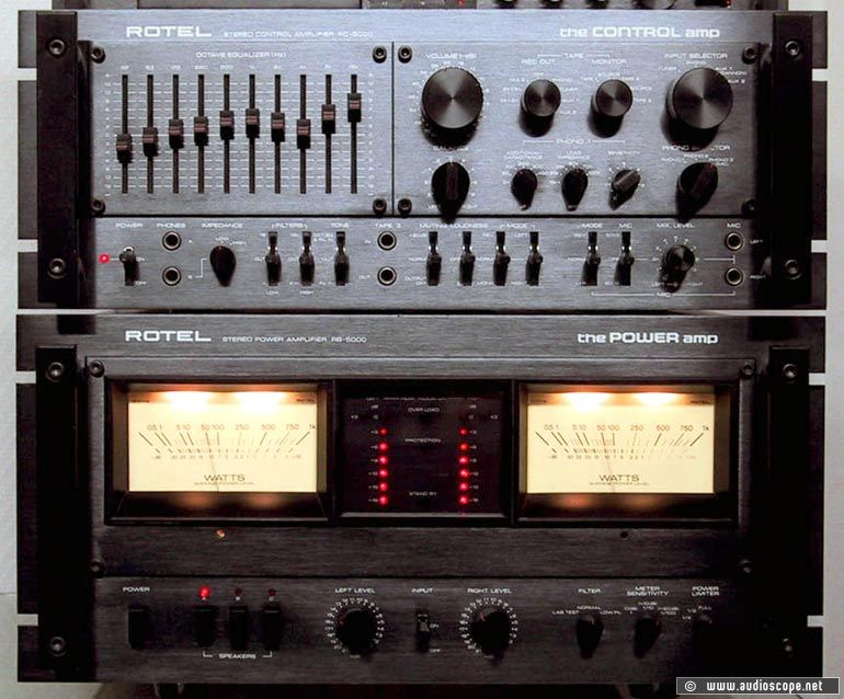 Rotel RB 5000 Rotel RC 5000 Music Pinterest Audio