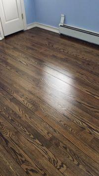 Minwax Jacobean Satin finish hardwood floors | Hardwood ...