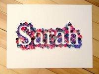 Custom Quilled Name or Word, Paper quilled wall art ...