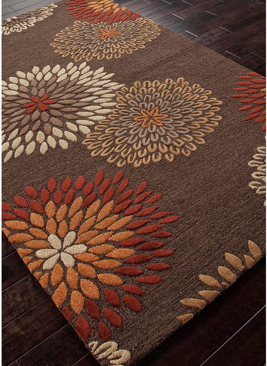 orange and brown rug  Home Decor
