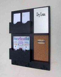 Mail Organizer - Cork Board - White Board - Key Hooks ...