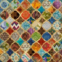 Buy Moroccan Style Foiled Canvas | Canvas Pictures | The ...