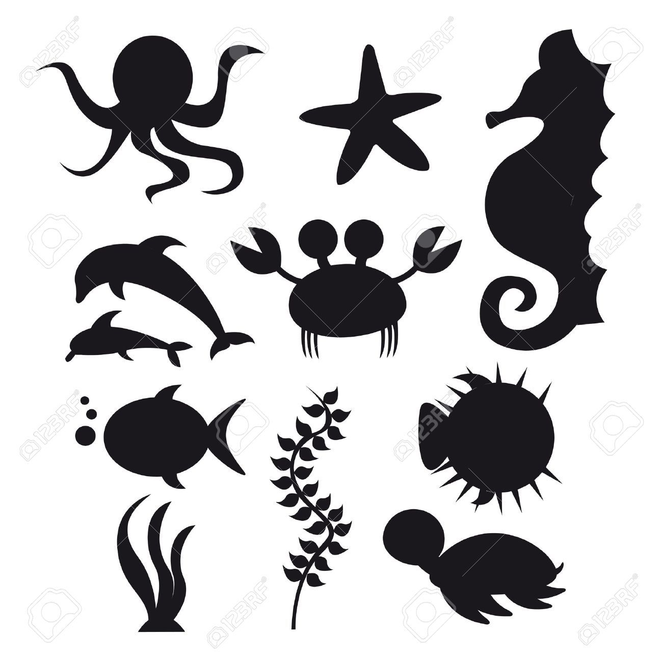 Under The Sea Silhouettes