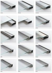 aluminum fronts with frosted glass. aluminum glass cabinet