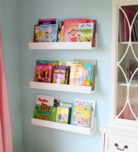 DIY White Minimalist Wall-Mounted Book Shelves for Little ...
