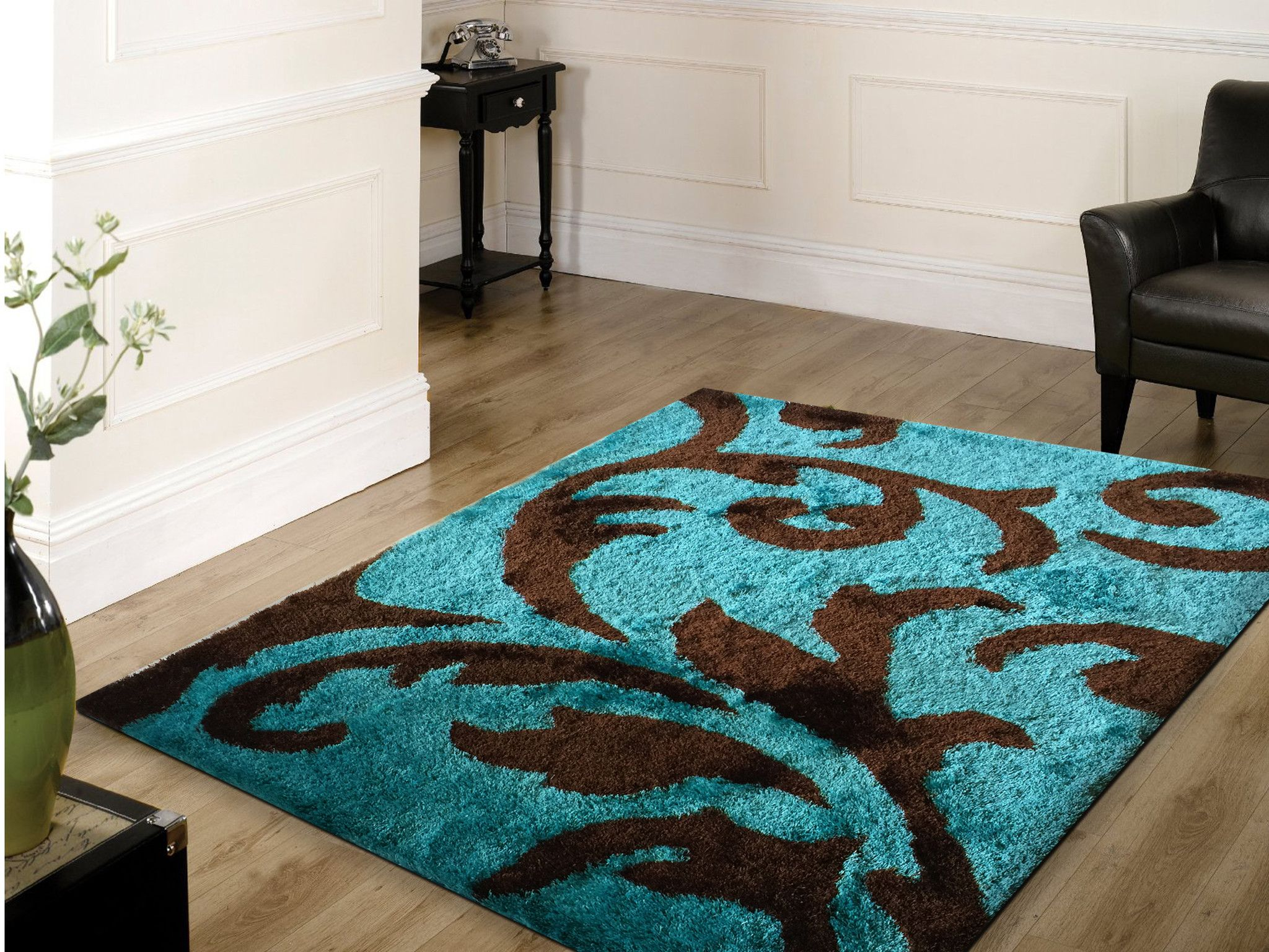 turquoise kitchen rugs base cabinet organizers soft indoor bedroom shag area rug brown with