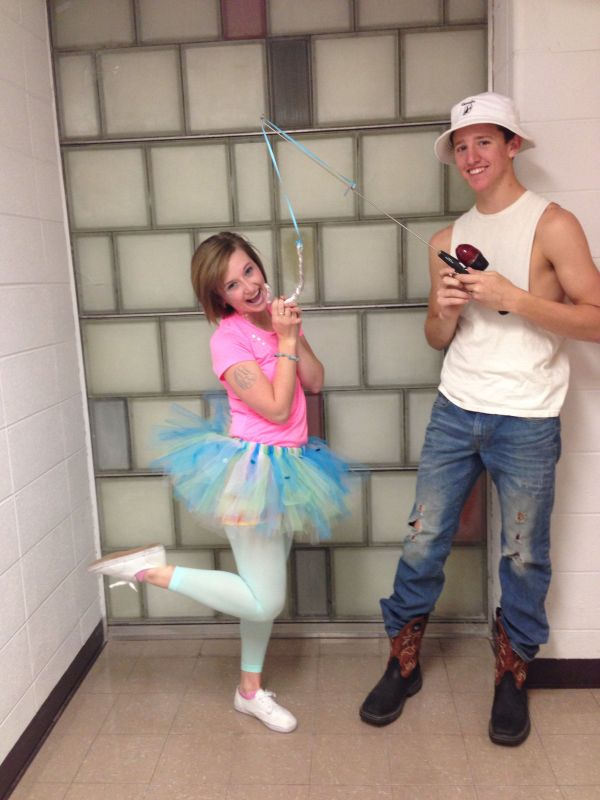 Fish And Fisherman Halloween Couple Costumes College