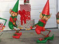 Santa's Elves Yard Display | Elves, Santas workshop and ...