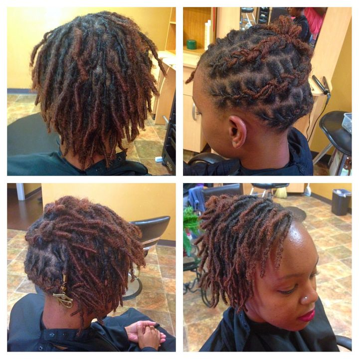 First style Short starter baby loc style Loc Love
