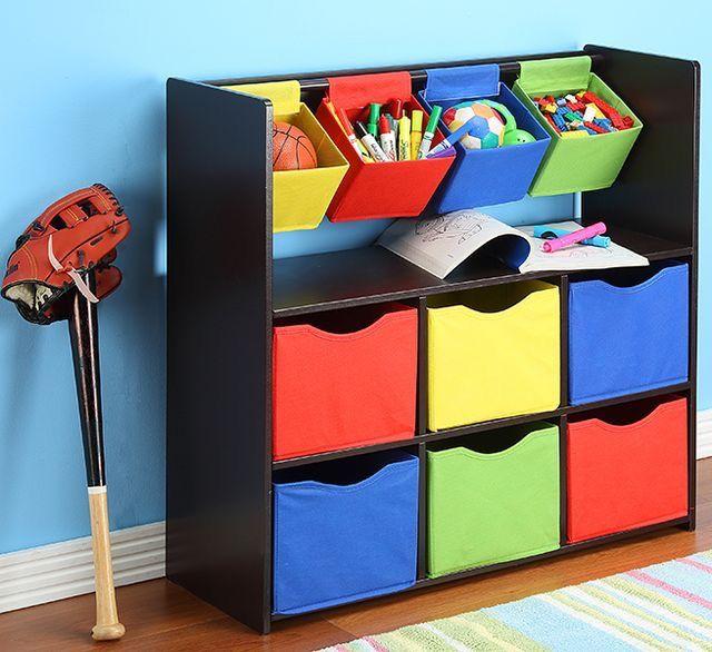 Mueble juguetero cajas de colores  Cajas organizadoras