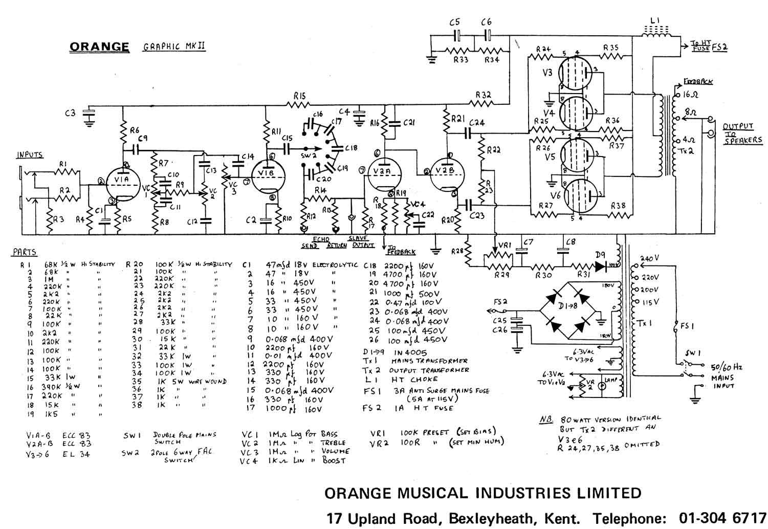 Orange Ad200b Schematic