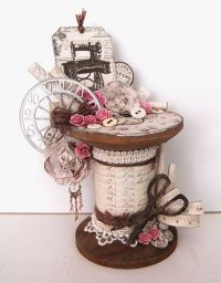 Altered wooden spool -Pion Design- - Ingrids place ...