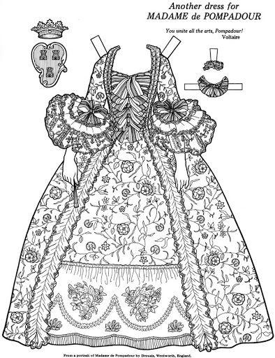 Great Women Coloring paper dolls – Maria Varga