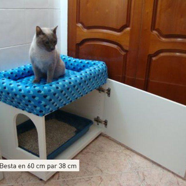 Les plus belles customisations de meubles IKEA  Maison pour chat Caisson et Chats
