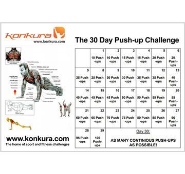 The 30 Day Push-up Challenge at http://www.konkura.com