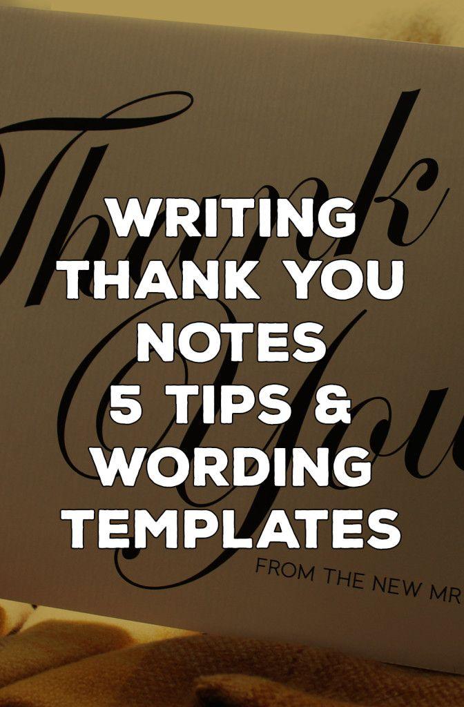 Best 25 Thank You Card Wording Ideas On Pinterest