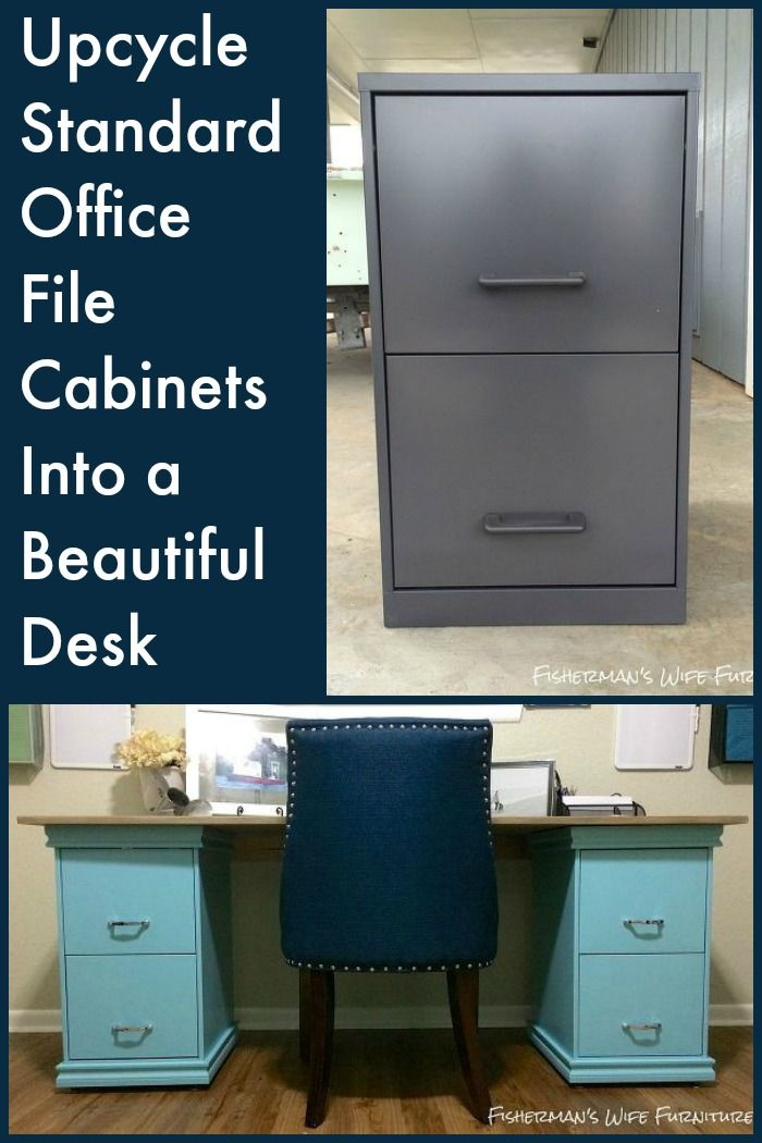 DIY Filing Cabinet Desk  Beautiful Filing cabinet desk