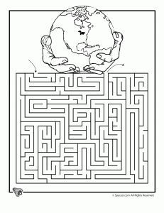 Earth Day free printable worksheets, including mazes and