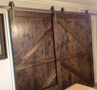 Single Track Bypass Barn Door Hardware Kit lets 2 doors ...