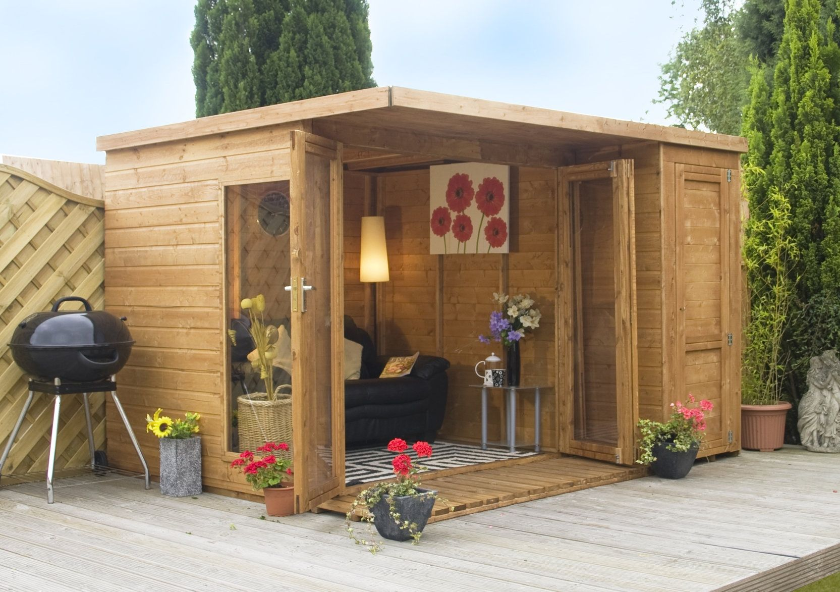 Summer Houses Garden Room With Side Shed 10ft X 8ft Garden