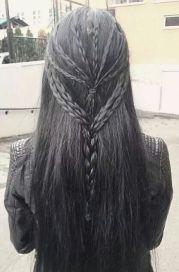 beautiful hair ghotic beauty