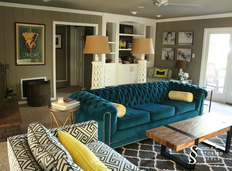 Best 25 Teal couch ideas on Pinterest  Dark green couches Green palette and Green colour palette