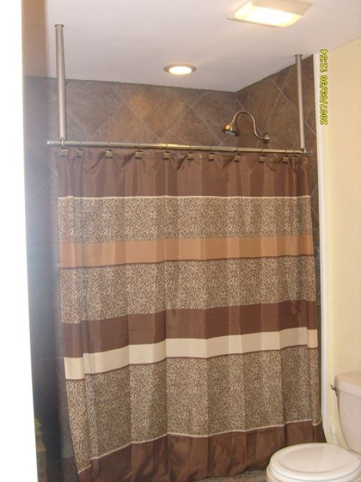 How To Build A Ceiling Mounted Shower Curtain Hanger Rod The O