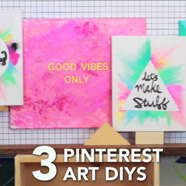 3 Art Diys Handmade & Diy