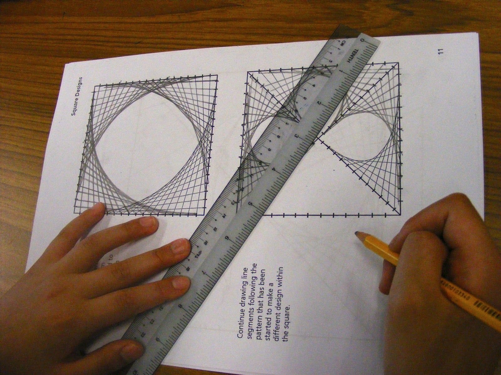 Little Artists In Training Parabolic Line Designs