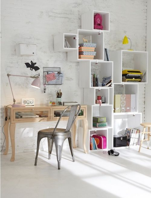 barton chair accessories big joes chairs urbnite tolix side deco garden and nature pinterest higgledy piggledy box shelves in a clean white space filled with colourful cheerfully clutterless saving ideas from phillips