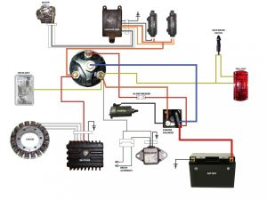 simplified wiring diagram for xs400 cafe | Motorcycle