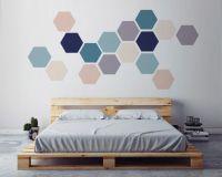 Geometric Wall ART, Removable Wall Sticker. Fabric Self ...