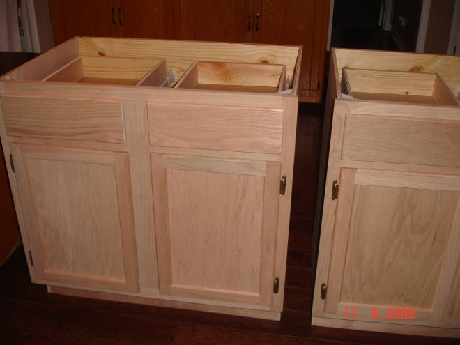 Diy kitchen island made by hubby me from unfinished