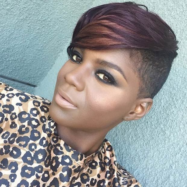 23 Most Badass Shaved Hairstyles For Women Black Girls
