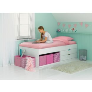 155 Phoenix White Cabin Bed Frame With Bobby Mattress At Argos If It S For