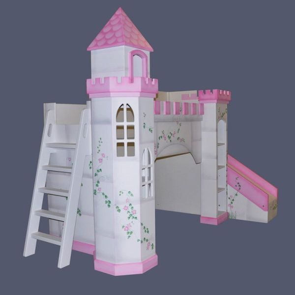 Princess Castle Bunk Bed with Slide