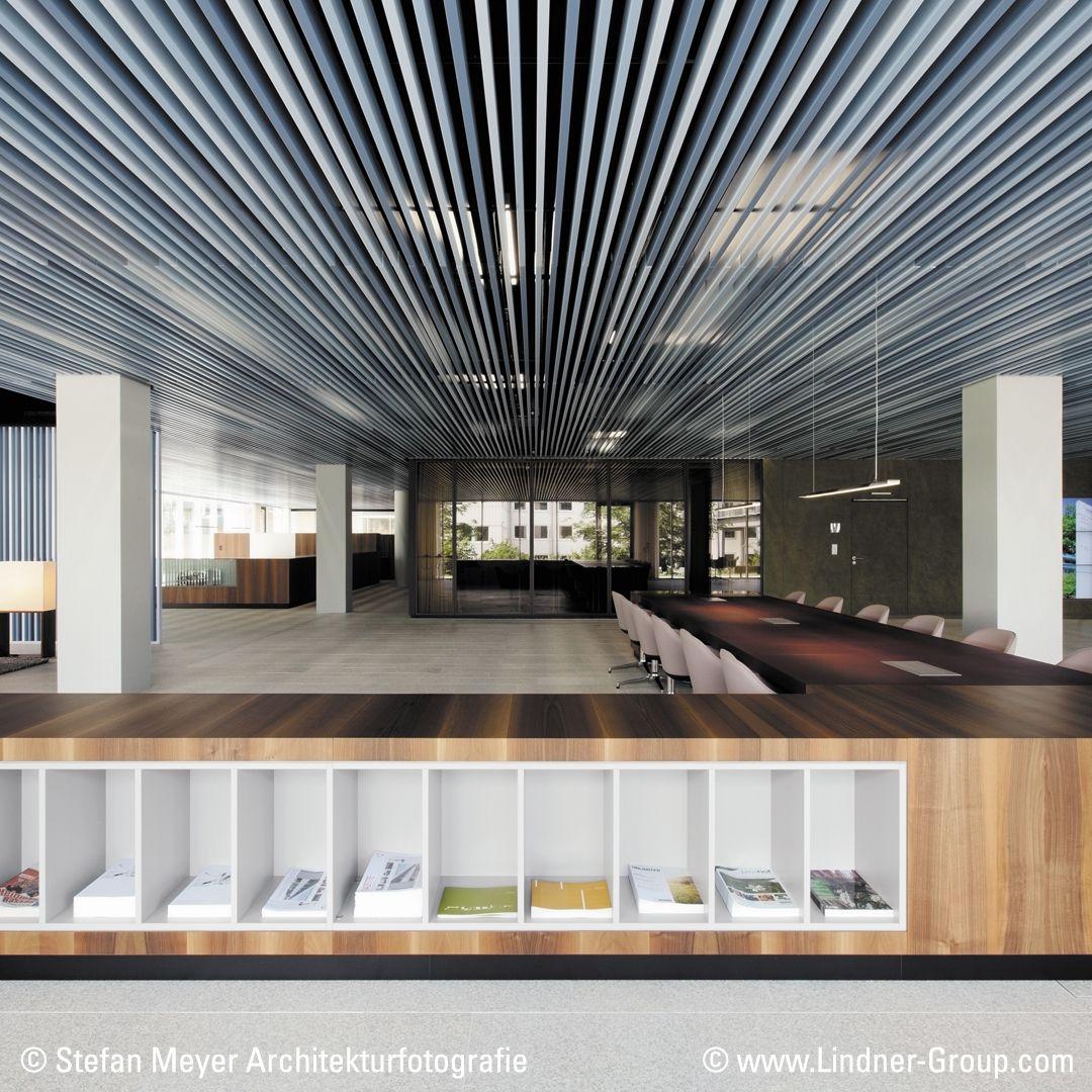 Linear Metal Baffle Ceiling