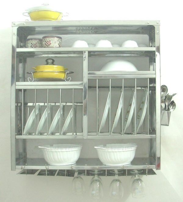 Kitchen Dish Racks Stainless Steel Wall