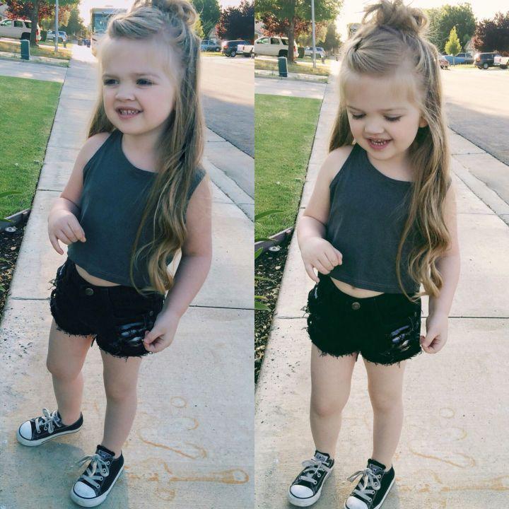 Half up hair Little girl style and hair Pinterest