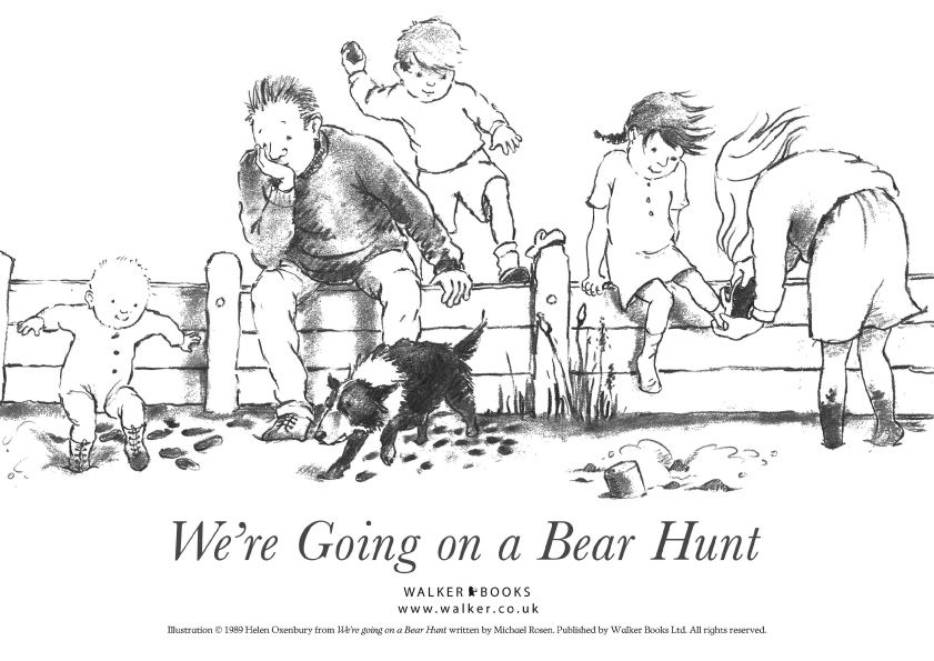We're Going on a Bear Hunt coloring page. A fun book to