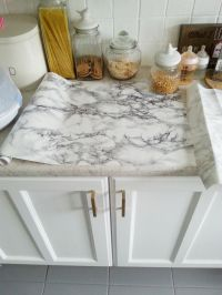 diy super cheap, easy marble look counters done with