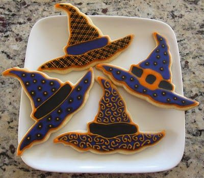 Witches Hat Cookies Doodlebugcookies Blogspot Com