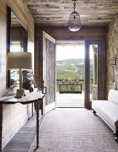 Can   decide which  love more the rustic entrance or that view interior design inspirationdream homesthe rustichallways also rh za pinterest