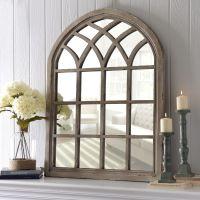 Distressed Cream Sadie Arch Mirror | Arch mirror, Rustic ...