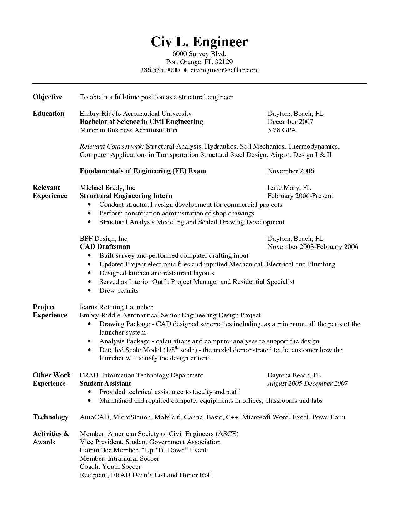 Resume Template Pinterest Image Result For Mechanical Engineering Student Resume